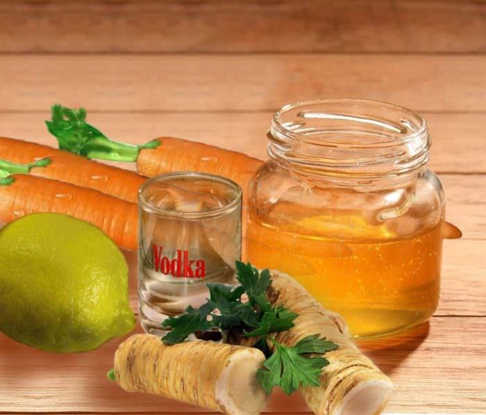Рецепт с медом и хреном